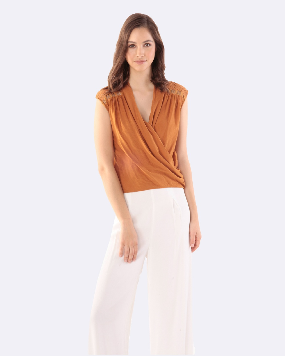 Amelius Milya Blouse Tops Orange Milya Blouse
