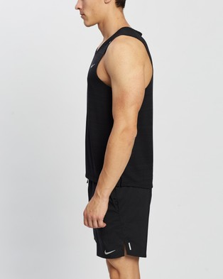 Nike Miler Running Tank - Muscle Tops (Black & Reflective Silver)
