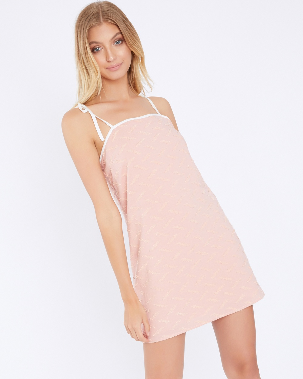 Calli Sarah Shift Tie Dress Dresses Pink Sarah Shift Tie Dress