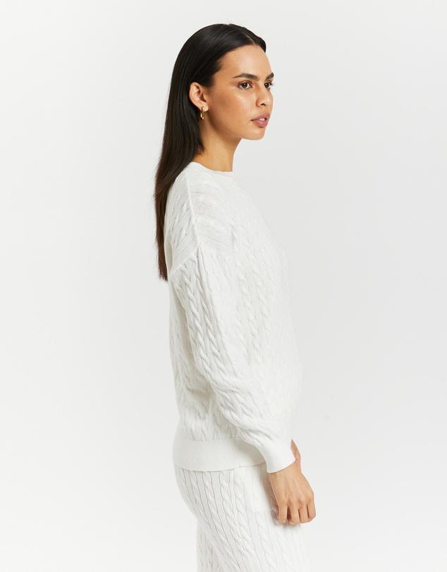 Women Organic Cotton Cable Knit