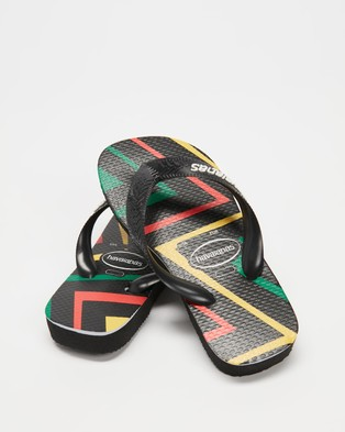 Havaianas - Top Zig Zag   Kids - All thongs (Black) Top Zig Zag - Kids