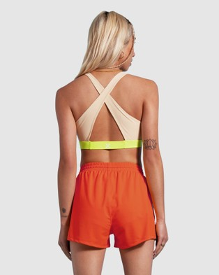 First Base Track and Field Shorts - High-Waisted (Orange)