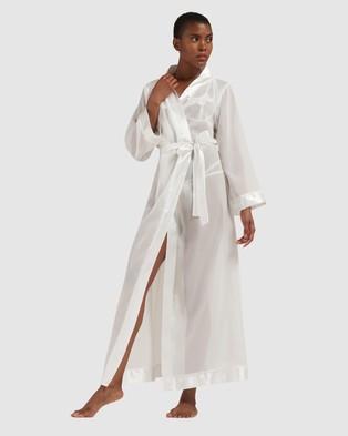 Bluebella - Marcella Long Kimono Sleepwear (Ivory)