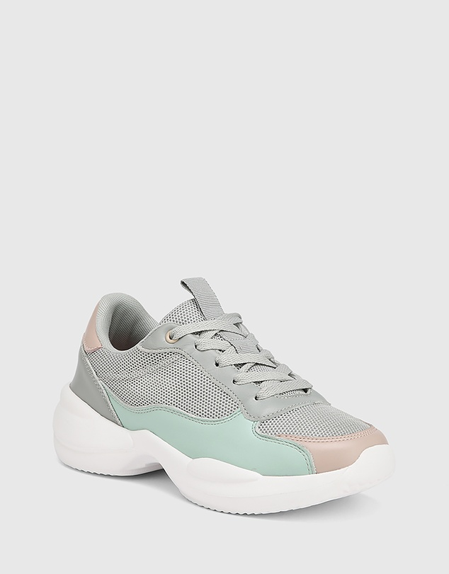 Women Orchard Multi Leather & Mesh Lace Up Sneakers