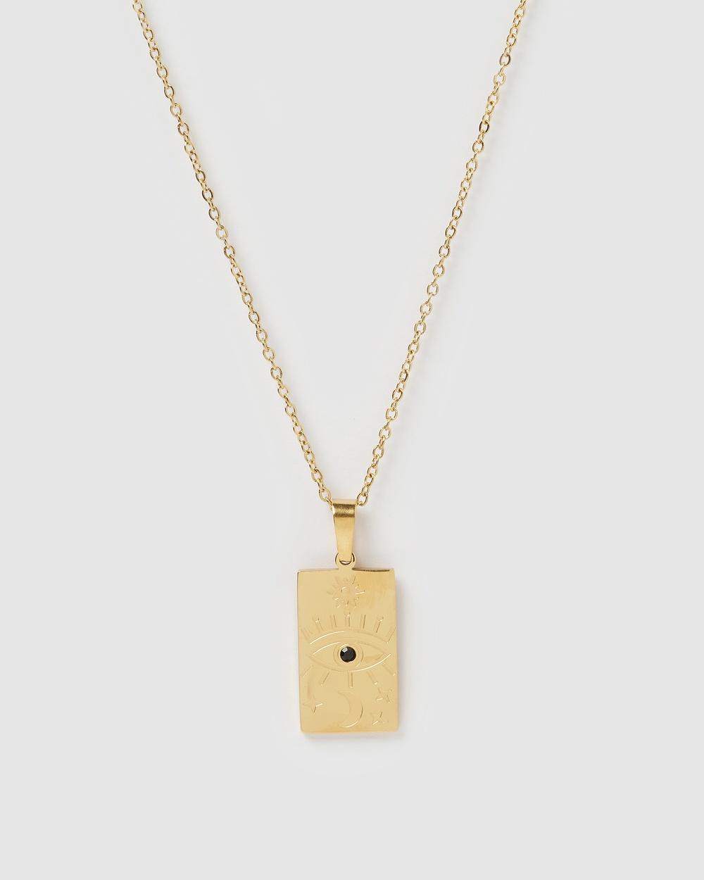 Miz Casa and Co Amelia Pendant Necklace Jewellery Gold