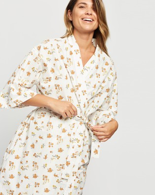 Atmos&Here Maya Cotton Robe Sleepwear Floral Print