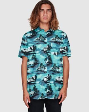 Billabong Sundays Floral Short Sleeve Shirt - Shirts & Polos (AQUA)