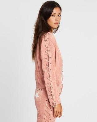 LENNI the label Reservoir Jacket - Coats & Jackets (Pink Faux Suede)
