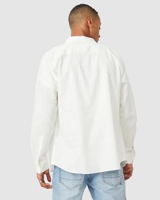 Cotton On Linen Cotton Long Sleeve Shirt - Casual shirts (White)