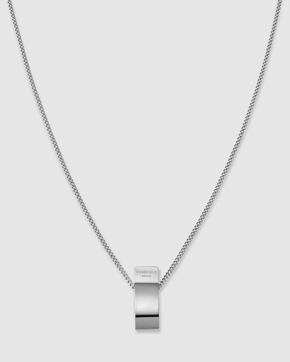 Rosefield Folded Charm Jewellery Silver