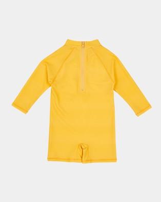 Goldie + Ace Cockatoo Short Leg Swimsuit   Babies - Rash Suits (Gold)
