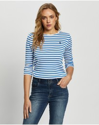 Polo Ralph Lauren - Stripe 3/4 Sleeve Knitted Pullover - Exclusives