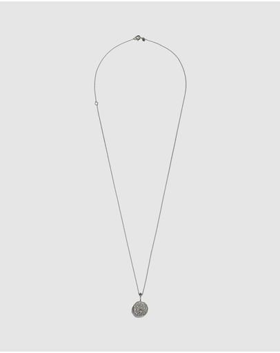 Aletheia & Phos The Capricorn Zodiac Necklace Silver Emerald