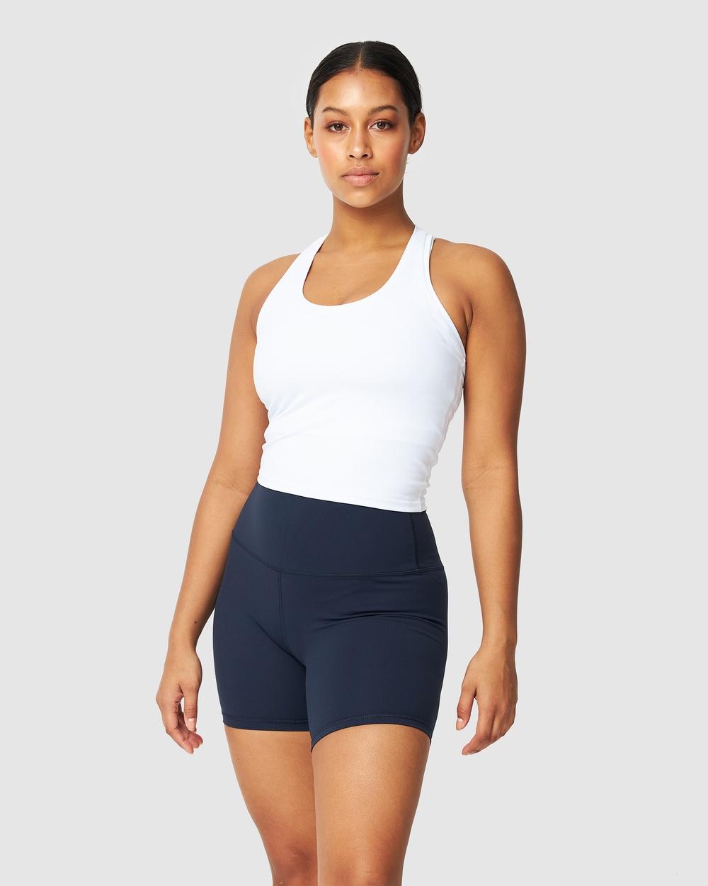 Muscle Republic Luxe Midriff Tank T-Shirts & Singlets White Australia
