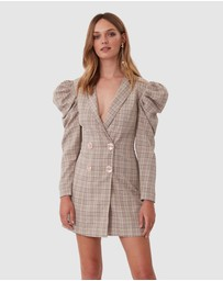 TORANNCE - Check Mate Blazer Dress