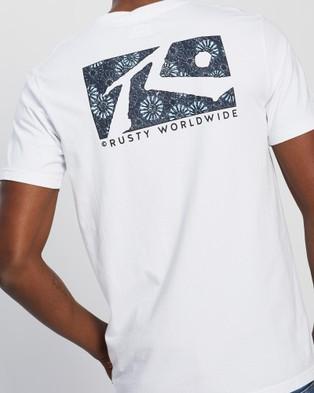 Rusty Scratch Short Sleeve Tee - T-Shirts & Singlets (White)