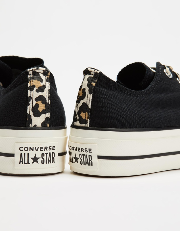 Women Chuck Taylor All Star Archive Leopard Print Platform Lo-Top Sneakers