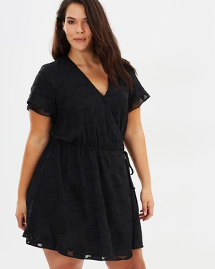 Atmos & Here Curvy – Desire Textured Wrap Dress