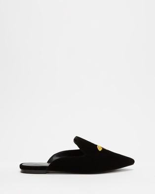 Atmos&Here Den Velvet Slippers - Flats (Black Velvet)