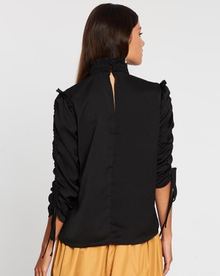Grace Willow Errol Top - Tops (Black)