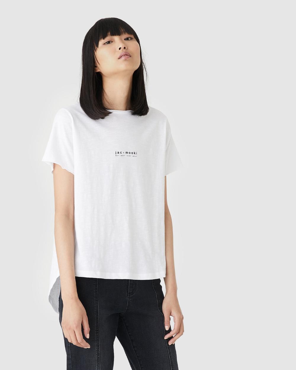 Jac & Mooki Kendall Tee T-Shirts Singlets white Australia