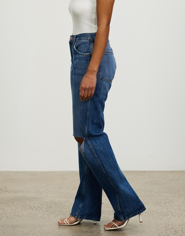 Women 90s High Rise Loose Jeans