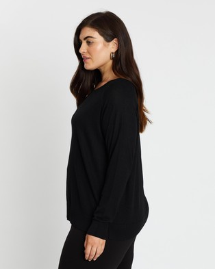 Atmos&Here Curvy Cleo Lightweight Knit - Jumpers & Cardigans (Black)