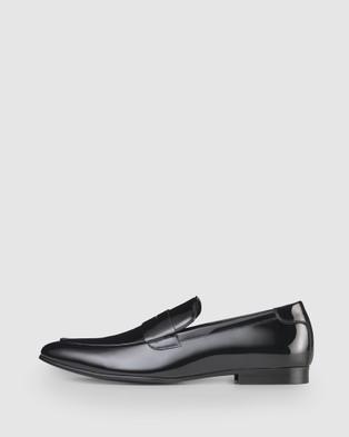 Aquila Prince Penny Loafers - Dress Shoes (Black)