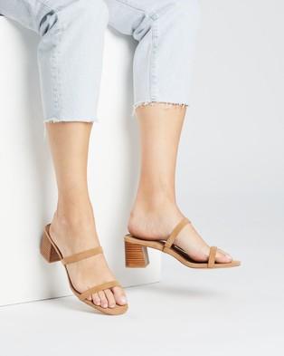 SPURR Ruth Heels - Sandals (Tan Nubuck)