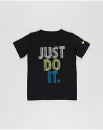 Nike - Just Do It Stacked Short Sleeve Tee - Kids