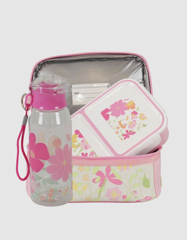 Bobbleart - Dome Lunch Bag Small Bento Box and Drink Bottle Garden