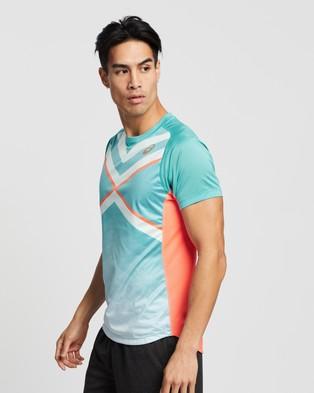 ASICS - Tennis Gpx Tee Men's T-Shirts & Singlets (Techno Cyan)