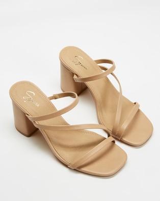 SPURR Benny Heels  - Sandals (Nude Smooth )