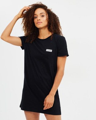 Dead Studios – Basic Box Logo Tee Dress Black