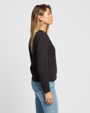 All About Eve Rise Again Crew - Crew Necks (WASHED BLACK)