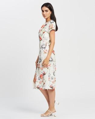 Romance by Honey and Beau Chateau Raglan Dress - Dresses (White Print)