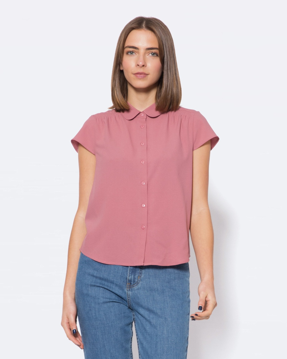 Princess Highway Rita Blouse Tops Pink Rita Blouse