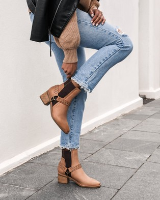 Jo Mercer Everleigh Mid Ankle Boots CHOCOLATE LEATHER