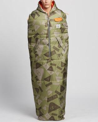 Poler Reversible Napsack - Sleeping Bags & Napsacks (Summit Camo Green)