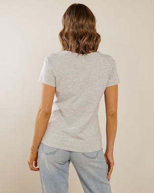 Atmos&Here Organic Cotton V Neck Tee Clothing Grey V-Neck