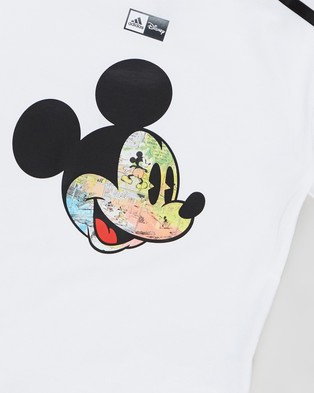 adidas Performance Mickey Mouse Tee   Kids T-Shirts & Singlets (White, Black & Red)
