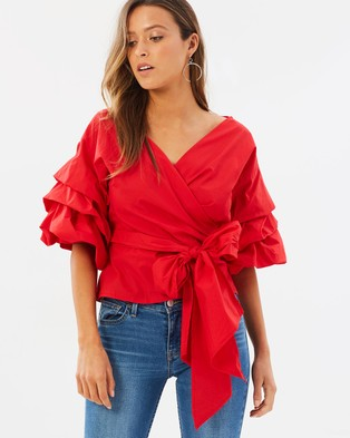 Lioness – Esmerelda Wrap Top Red