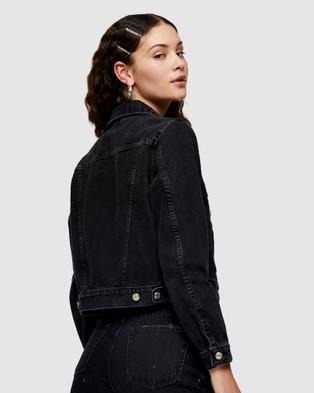 TOPSHOP - Denim Jacket - Denim jacket (Washed Black) Denim Jacket