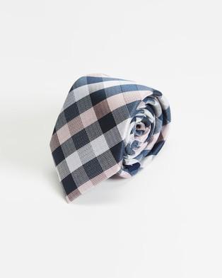 Tie Lab - 3 Piece Gift Box Set - Ties (Blue & Pink) 3-Piece Gift Box Set