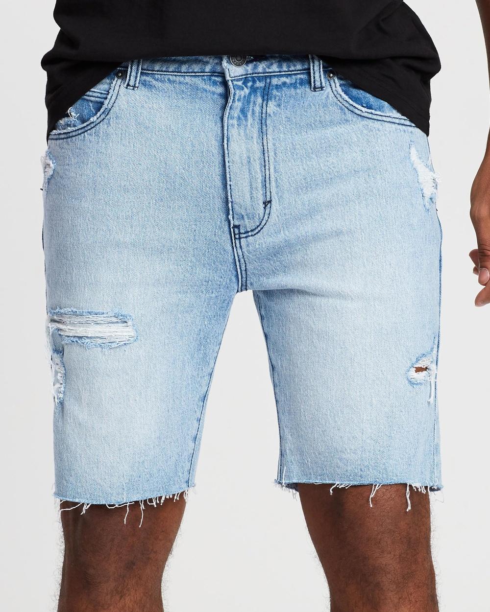 Abrand A Dropped Skinny Shorts Denim Stone Punk