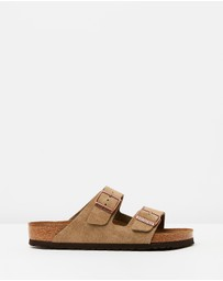 Birkenstock - Unisex Arizona Suede Leather Regular Sandals