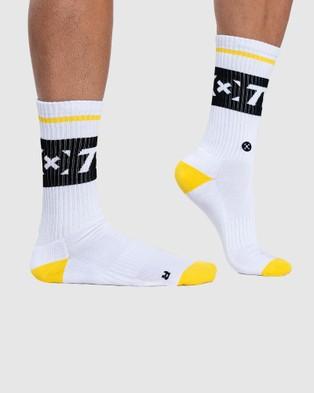 The WOD Life Everyday Core Socks - Underwear & Socks (WHITE/BLACK/YELLOW)