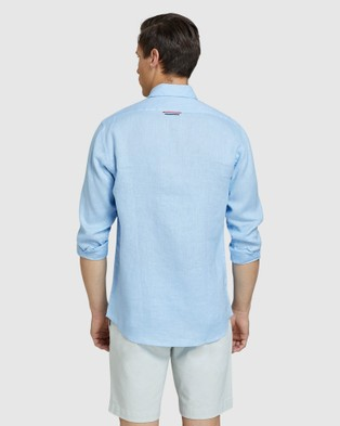 Oxford Holloway Pure Linen Shirt - Casual shirts (Blue)