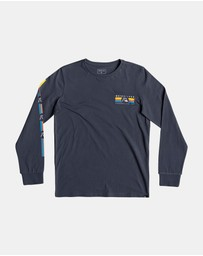 Quiksilver - Boys 8-16 Step Up Step Down Long Sleeve T Shirt