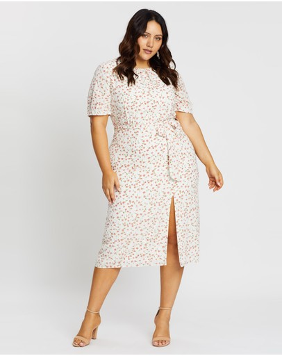 Atmos&Here Curvy - Lucia Split Front Midi Dress